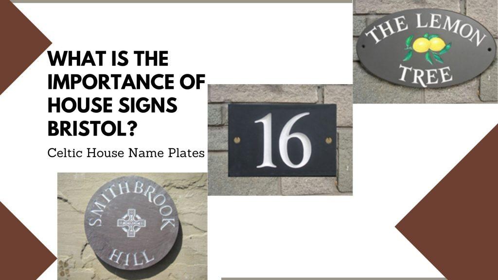 Celtic House Name plates
